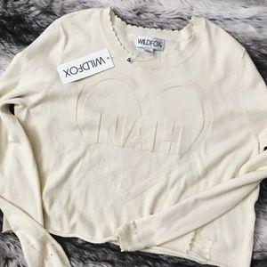 Wildfox Nah Distressed Sweater